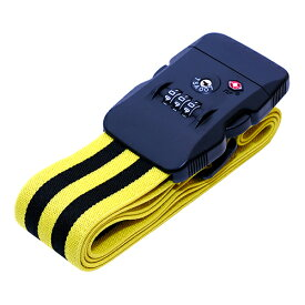 ミヨシ ジャストフィットスーツケースベルト ブラックイエロー ASNMBZ-SBL02/BY|雑貨・ホビー・インテリア 雑貨 雑貨品