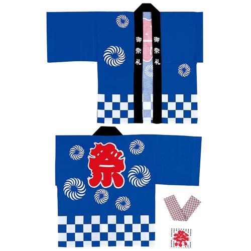 祭り用材 イベント用品 市松柄祭伴天(S) [DIMI7629S]