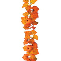 ★ハロウィン★造花フラワー観葉植物かぼちゃカボチャパンプキンガーランド(5/ワイヤー入り)[LEGA5636]【フェイクグリーン資材装飾飾付人工観葉植物】