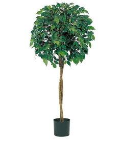 人工観葉植物 大型 光触媒スプレープレゼント 120cm フィカスツリー(ナチュラルトランク) [LETR7464]フェイク グリーン 造花 インテリア おしゃれ 代引決済不可