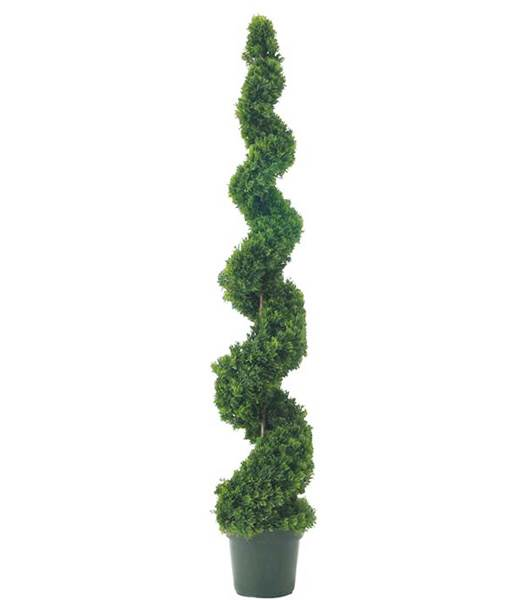 ★造花 フラワー 観葉植物  150cm スパイラルシダーツリー [LETR6606]【フェイク グリーン インテリア 人口観葉植物】