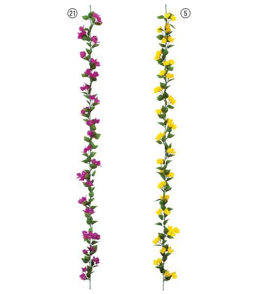 ★造花 フラワー 観葉植物 花束 ブーゲンビリアガーランド(50)  [FLGA3685]【フェイク グリーン 資材  フラワー アレンジメント】