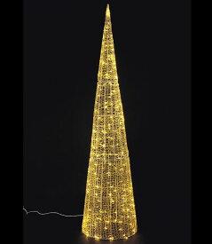 ★クリスマスツリーライト イルミネーション 耐水180cm108球広角型LEDシャンペーングロー立体コーン/常点灯 [DILI61081]