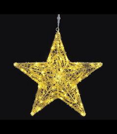 ★クリスマスツリーライト 耐水60cm100球広角型LEDシャンペーングロー立体スター(8機能コントローラー付) [DILI61076]