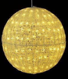 ★クリスマスツリーライト イルミネーション 耐水80cm240球広角型LEDシャンペーングロー立体ボール/常点灯 [DILI61069]