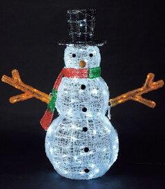 ★クリスマスイルミネーションライト 耐水165cm340球広角型LEDホワイトイエローグロー立体スノーマン/常点灯 [DILI61097]