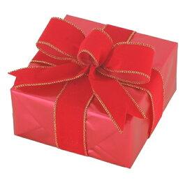 ギフトボックス(Sサイズ)レッド[MRS12-10911]|クリスマス クリスマスツリー デコレーション 店舗装飾 飾り 飾りつけ 飾り付け 装飾 ギフトボック プレゼント レッド