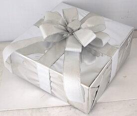 ギフトボックス(LLサイズ)シルバー[MRS15-12702]|クリスマス クリスマスツリー デコレーション 店舗装飾 飾り 飾りつけ 飾り付け 装飾 ギフトボック プレゼント シルバー
