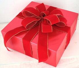 ギフトボックス(LLサイズ)レッド[MRS15-12703]|クリスマス クリスマスツリー デコレーション 店舗装飾 飾り 飾りつけ 飾り付け 装飾 ギフトボック プレゼント レッド