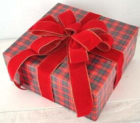 ギフトボックス(LLサイズ)チェック[MRS15-12707]|クリスマス クリスマスツリー デコレーション 店舗装飾 飾り 飾りつけ 飾り付け 装飾 ギフトボック プレゼント チェック