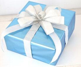 ギフトボックス(Lサイズ)ブルー[MRS15-12714]|クリスマス クリスマスツリー デコレーション 店舗装飾 飾り 飾りつけ 飾り付け 装飾 ギフトボック プレゼント ブルー