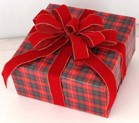 ギフトボックス(Lサイズ)チェック[MRS15-12715]|クリスマス クリスマスツリー デコレーション 店舗装飾 飾り 飾りつけ 飾り付け 装飾 ギフトボック プレゼント チェック