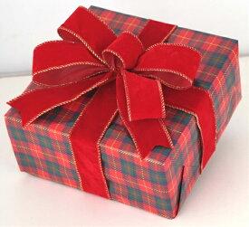ギフトボックス(Mサイズ)チェック[MRS15-12723]|クリスマス クリスマスツリー デコレーション 店舗装飾 飾り 飾りつけ 飾り付け 装飾 ギフトボック プレゼント チェック