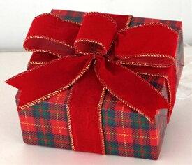 ギフトボックス(Sサイズ)チェック[MRS15-12807]|クリスマス クリスマスツリー デコレーション 店舗装飾 飾り 飾りつけ 飾り付け 装飾 ギフトボック プレゼント チェック