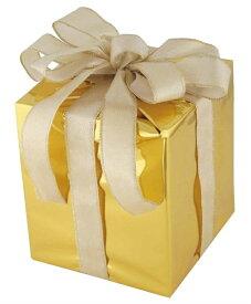 キューブギフトボックス(Mサイズ)ゴールド[MRS18−14001]|クリスマス クリスマスツリー デコレーション 店舗装飾 飾り 飾りつけ 飾り付け 装飾 ギフトボック プレゼント ゴールド