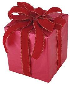 キューブギフトボックス(Mサイズ)レッド[MRS18−14002]|クリスマス クリスマスツリー デコレーション 店舗装飾 飾り 飾りつけ 飾り付け 装飾 ギフトボック プレゼント レッド
