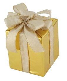 キューブギフトボックス(Sサイズ)ゴールド[MRS18−14004]|クリスマス クリスマスツリー デコレーション 店舗装飾 飾り 飾りつけ 飾り付け 装飾 ギフトボック プレゼント ゴールド
