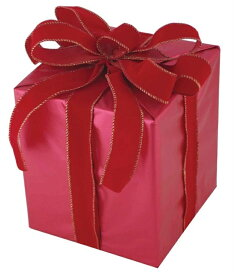 キューブギフトボックス(Sサイズ)レッド[MRS18−14005]|クリスマス クリスマスツリー デコレーション 店舗装飾 飾り 飾りつけ 飾り付け 装飾 ギフトボック プレゼント レッド