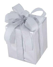 キューブギフトボックス(Sサイズ)シルバー[MRS18−14006]|クリスマス クリスマスツリー デコレーション 店舗装飾 飾り 飾りつけ 飾り付け 装飾 ギフトボック プレゼント シルバー