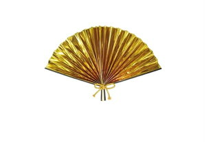 30cm金扇子[MRSNYHG3358]|デコレーション 店舗装飾 飾り 飾りつけ 飾り付け 正月 正月飾り 装飾 30cm 扇子 センス せんす 金 ゴールド