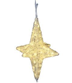 ★クリスマスライト耐水85cm80球広角型LEDシャンペーングロー立体スター/常点灯(パワーコードコネクター付) [DILI61206]