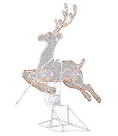 ★クリスマスイルミネーション 電飾 耐水電動90cm立体レインディアライト/常点灯 [DILI6055]