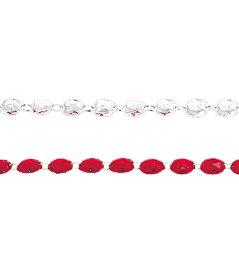 ★クリスマスツリー飾り チェーン 180cm ダイヤモンドガーランド  [TGMI6032]