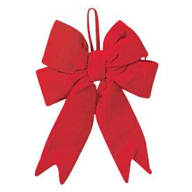 40cm幅レッドベルベットボウ クリスマスツリー飾り ボウ リボン [PARI6967]