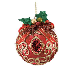 11cm レッドジュエルアンティークボール [ONSTOBA6184] |クリスマス 装飾 デコレーション ガーランド オーナメント 飾り イベント パーティー レッド アンティーク ボール クリスマス装飾 室内装