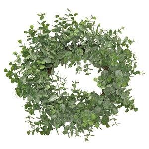 ヌーヴェルユーカリリース #24 GREEN 造花 ベース 完成品 リース ボール [T-FG003397-024] 代引決済不可