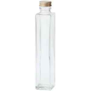 細口ガラス瓶 角柱型 ネジ栓付き 4本入り 花器 ベース 花器(ガラス) ガラス [TDLGG020504] 代引決済不可|装飾 飾利付け 店舗装飾 インテリア ディスプレイ 花瓶 フラワーポット 40.0×H213.5m