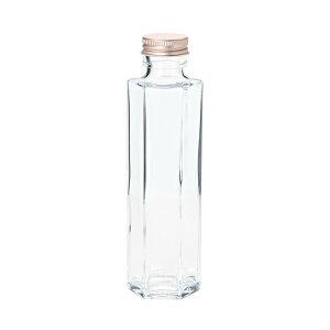 細口ガラス瓶 ミドル六角型 ネジ栓付き 6本入り 花器 ベース 花器(ガラス) ガラス [T-GG050606] 代引決済不可