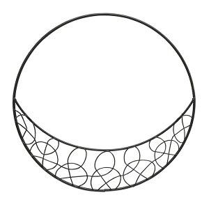 ワイヤーリース三日月L 黒 5個入り 花器 フラワースタンド オブジェ ベース ワイヤー素材 ワイヤーベース [TDLKA615107-00B] 代引決済不可|装飾 飾利付け 店舗装飾 インテリア ディスプレイ アイ
