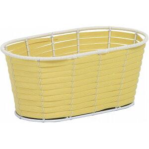 PEバスケット連鉢3号用 YL 黄色 花器 ベース プラスチック 樹脂 [TDLKA55430W-00Y] 装飾 飾り 飾り付け 店舗装飾 オブジェ デコレーション鉢 ポット 22.5×12×10cm イエロー