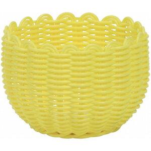 PEアレンジL YL 黄色 花器 ベース プラスチック 樹脂 [TDLKA570001-00Y] 装飾 飾り 飾り付け 店舗装飾 オブジェ デコレーション鉢 ポット φ13.5×9cm イエロー