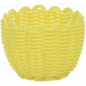 PEアレンジS YL 黄色 花器 ベース プラスチック 樹脂 [TDLKA570002-00Y] 装飾 飾り 飾り付け 店舗装飾 オブジェ デコレーション鉢 ポット φ11×8cm イエロー