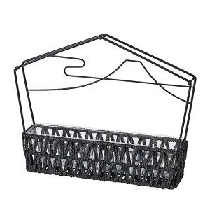 はな絵馬・大 ブラック 花器 ベース ワイヤー [TDLND040434]|装飾 飾り付け 店舗装飾 インテリア ディスプレイ フラワースタンド アイアンスタンド W32×D7×H26cm 黒 お正月 正月