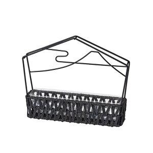 はな絵馬・小 ブラック 花器 ベース ワイヤー [TDLND040435]|装飾 飾り付け 店舗装飾 インテリア ディスプレイ フラワースタンド アイアンスタンド W24×D5×H19cm 黒 お正月 正月