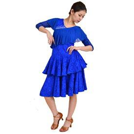 <レンタル>社交ダンス 衣装 ドレス フォーメーション r19