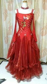 <レンタル>社交ダンス 衣装 ドレス フォーメーション m35