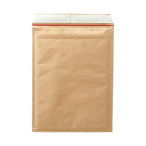 TANOSEE クッション封筒 A4ワイド用 内寸260×350mm 茶 1セット(200枚:100枚×2ケース)_送料無料