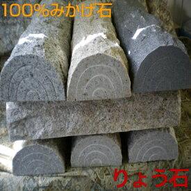車止め 訳あり アウトレット 高級みかげ石 薪デザイン 幅43cmタイプ カーストッパー りょう石 100%御影石 置くだけ簡単 おしゃれ 2個セット デザイン