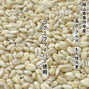国産もち麦 もち麦 5kg 「極」 業務用 岡山県産 フクミファイバー 100% 高β-グルカン 13.8g/100g中
