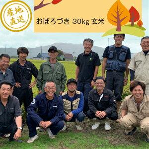 【おぼろづき 30kg 玄米】令和2年(2020年)産 北海道産 送料無料 お米卸売り直送