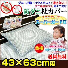 防ダニ枕カバー(チェック柄)ダニブロック【スーパーガードII】