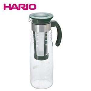 【エントリーで全品ポイント10倍! 6/14 20時〜】ハリオ HARIO かご網付き水出し茶ポット 1200ml HCC-12DG アイスティー JAN: 4977642034051