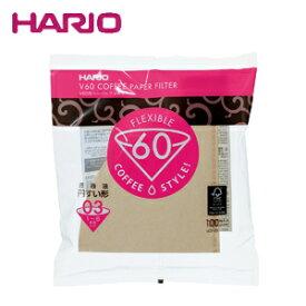 HARIO ハリオ V60ペーパーフィルター03(V60透過ドリッパー03クリア用) 100枚 VCF-03-100M JAN: 4977642723368