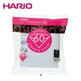 HARIO ハリオ V60ペーパーフィルター03(V60透過ドリッパー03クリア用) 100枚 VCF-03-100W JAN: 4977642723337【あす楽】【配送日指定】