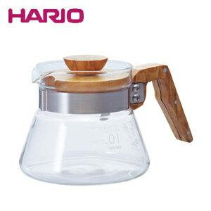 HARIO ハリオ コーヒーサーバー400オリーブウッド VCWN-40-OV JAN: 4977642019324