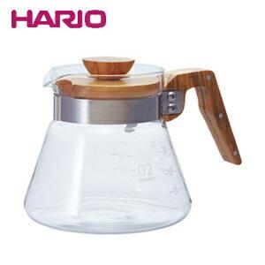 【25日は店内全品ポイント5〜20倍!】HARIO ハリオ コーヒーサーバー600オリーブウッド VCWN-60-OV JAN: 4977642019331【あす楽対応】